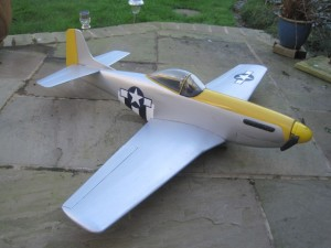 Mustang P-51, 45 inch span, built from plan 2014 by Peter Rolling