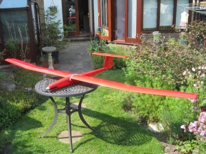 Red Ned, 108 inch span, built from plan 2012 by Peter Rolling